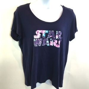 Torrid Womens Shirt Star Wars Navy Floral 3 3X